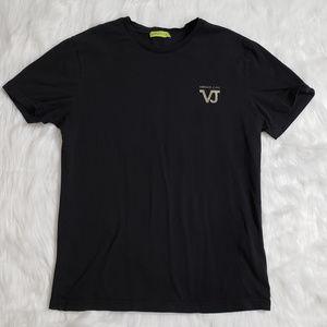 Versace Jeans Men's Short Sleeve Black Tee Shirt M